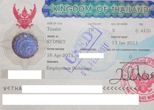 Tourist visa for Thailand  – Do i need it ?