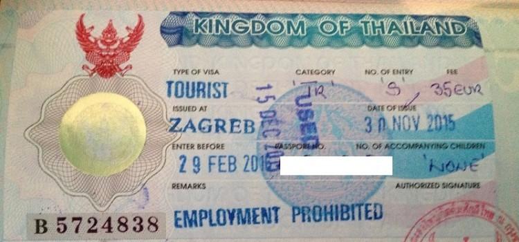 Privremene izmjene vize za Tajland – jednokratna viza postaje viza s dva ulaza
