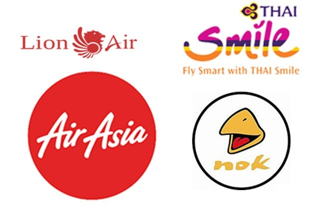 Air asia low cost nok air thai lion air thai smile
