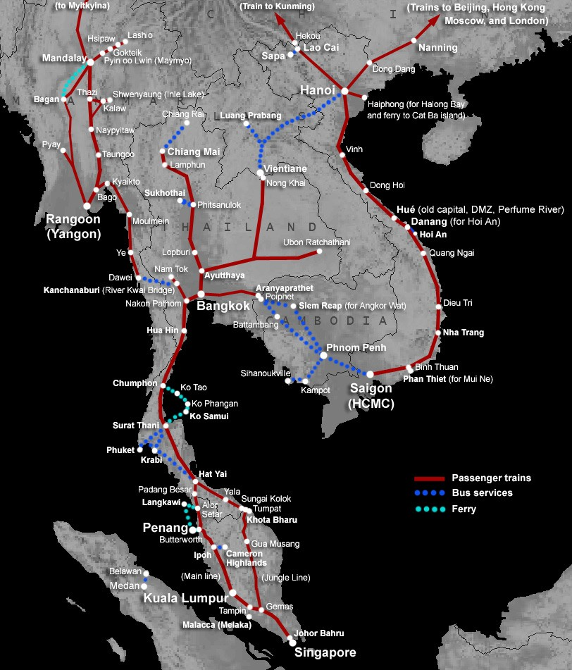 Transport po Tajlandu