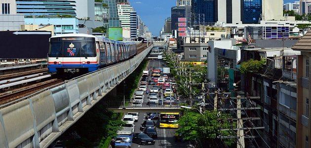 Bangkok BTS Skytrain  vodič