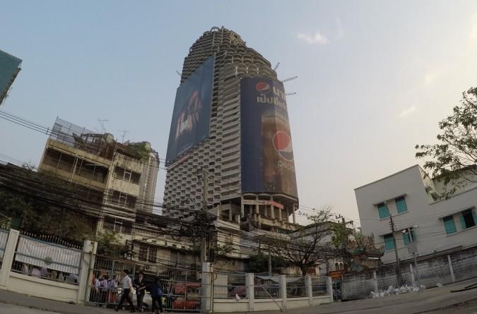 ghost tower bangkok from outside iz vana