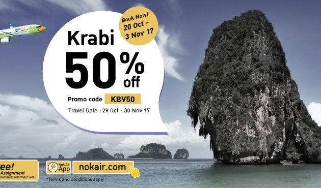 Nok Air daje 50% popusta na letove u Krabi
