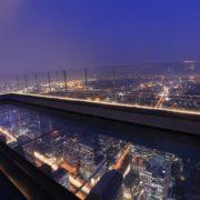 Otvoren vidikovac i bar na vrhu najviše zgrade Bangkoka