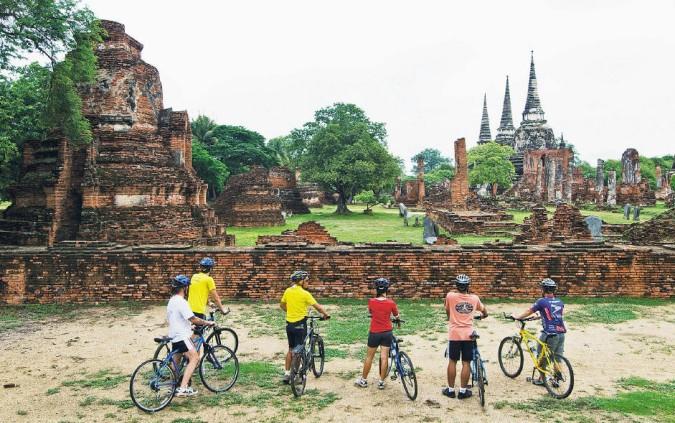 izlet ayutthaya biciklom bangkok