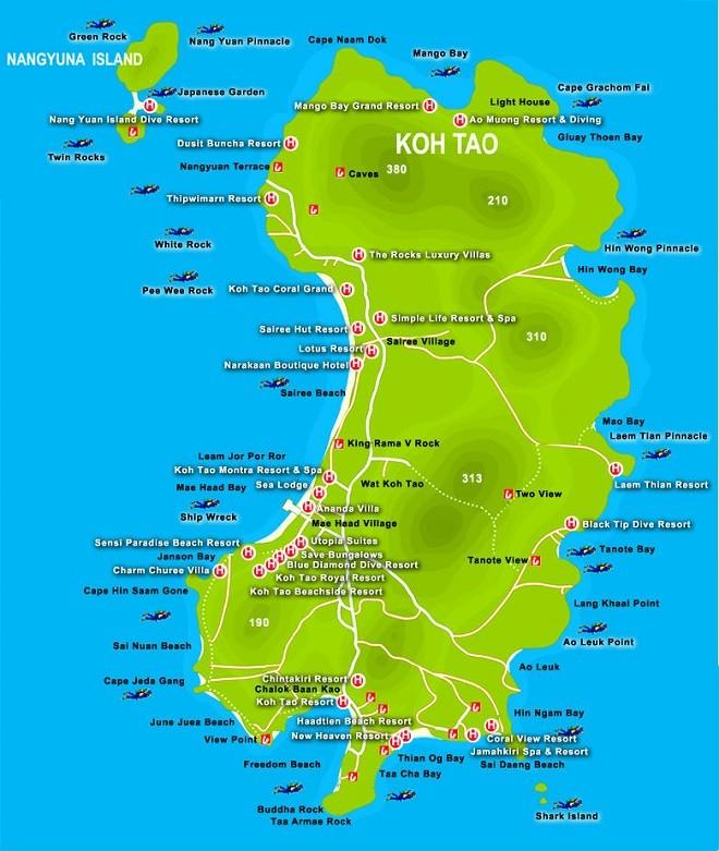koh-tao-mapa-plaze-rajski-otok-tajland-iskustva-thaimer-forum