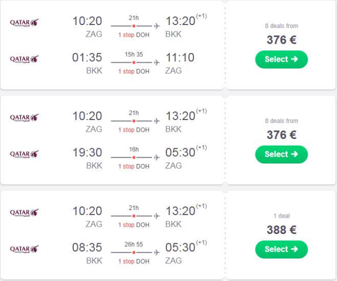 zagreb bangkok qatar airways akcija jeftini letovi tajland thaimer net putovanje